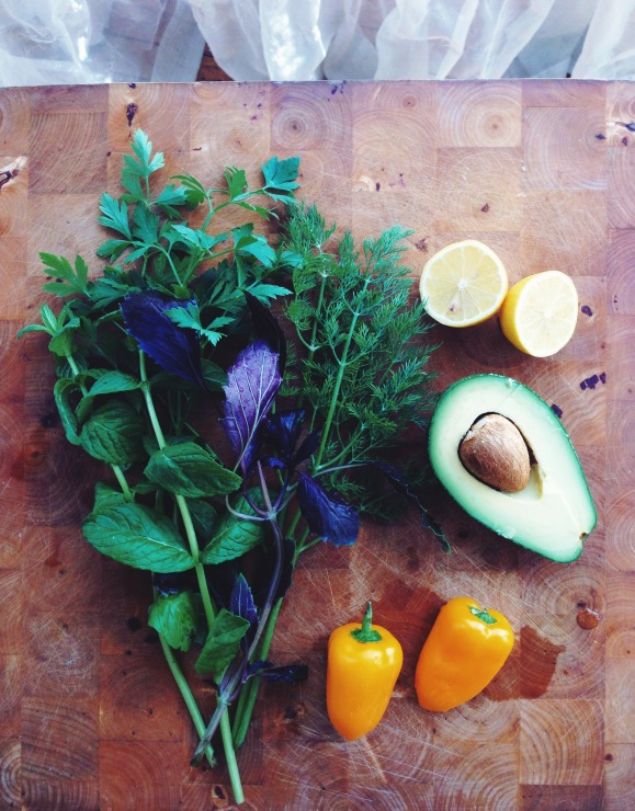 Rainbow Salad With Herbs Galore // Regenbogensalat mit reichlich Kräutern